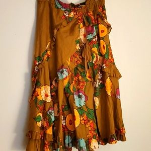 Free people Midi skirt size 12